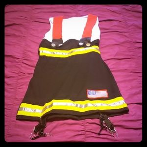 Xsmall fire fighter costume